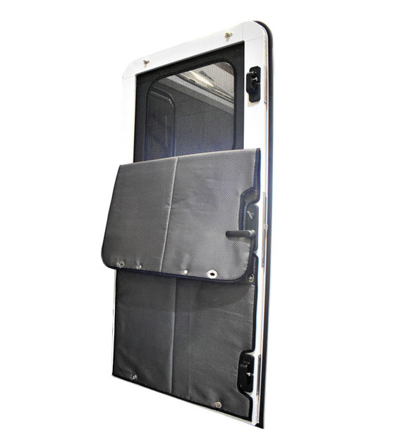 Mid size removeable insulated thermal panel folded down