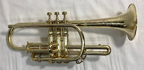King Master Model Cornet Gold Plated
