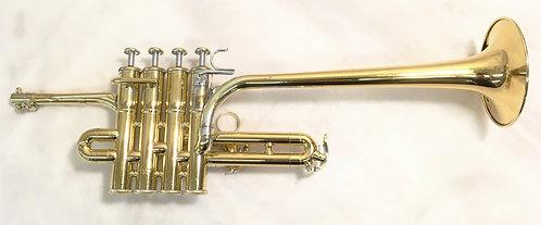 "Yamaha YTR-9830 ""Long Model"" Gold Plated Bb Piccolo Trumpet"