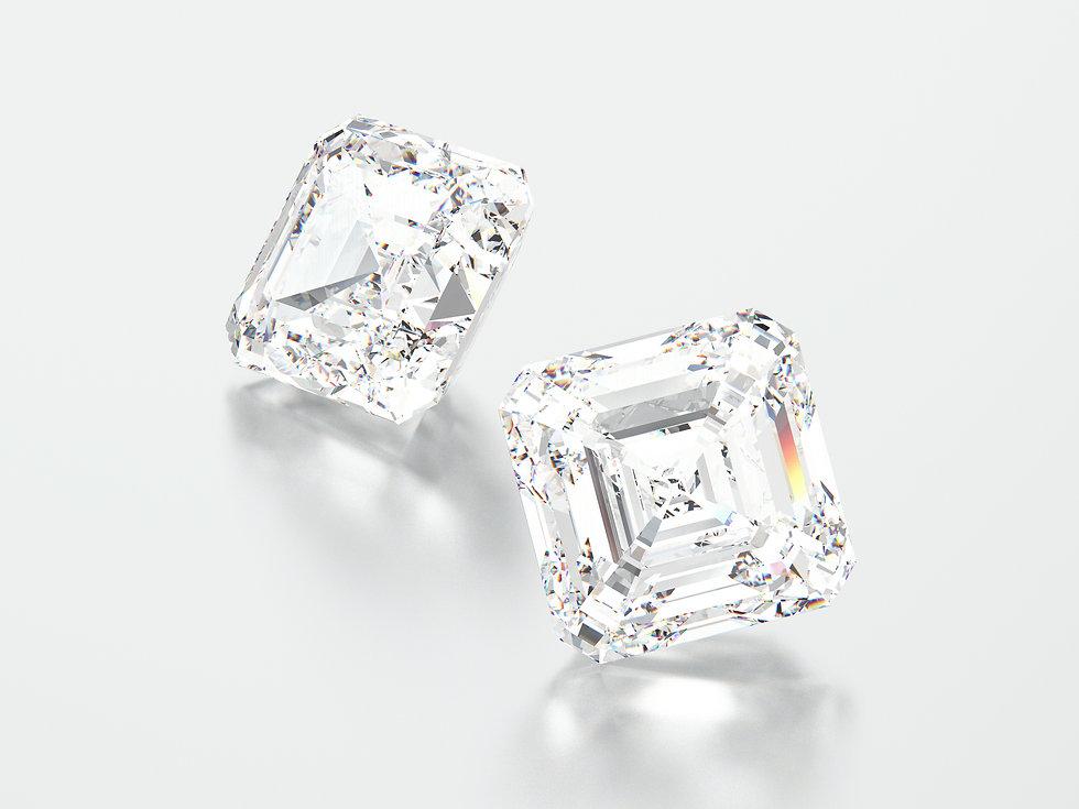 asscher lab grown diamonds