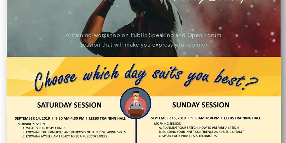 Public Speaking Training-Workshop entitled Join & Speak out