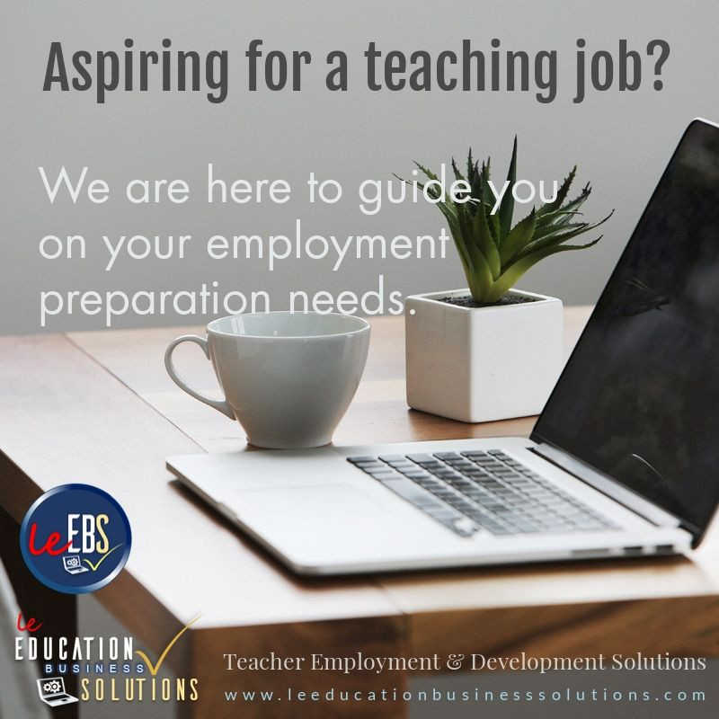 Aspiring for a teaching job?