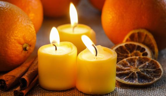velas perfumadas cítricas