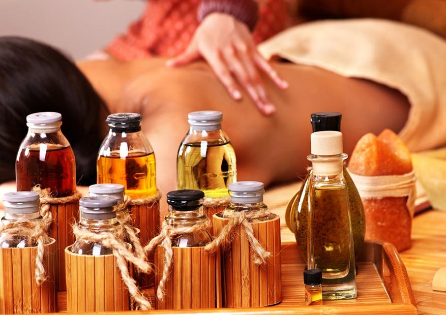 massagem com aromaterapia