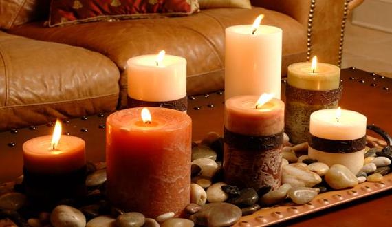 velas perfumadas no trabalho