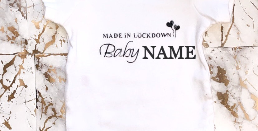 Made In Lockdown Baby Grow/Baby Bodysuit