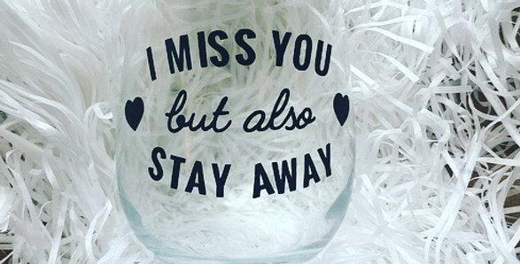 I Miss You But - Lock Down Mug