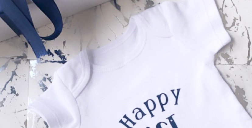 Happy 1st Fathers Day Babygrow/Bodysuit