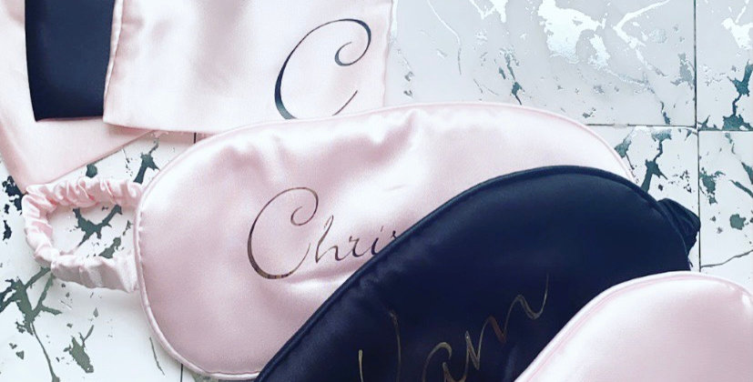 Luxury Personalised Silk Sleeping Mask