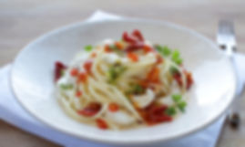 MioBio, Pasta, Spaghetti, Fisch, Zander, Tomaten, Food, Catering, Kochkurs, Bio