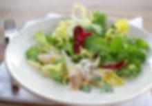 Bio-Blattsalate mit geräucherter Reinanke und Zitrus-Senfdressing, MioBio, Christian Fleiss, Catering, Kochkurs, gesund, frisch, Salat, Fisch, Food, Bio, kochen