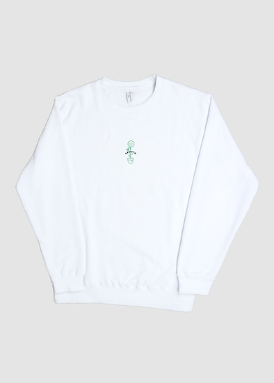 GROWTH SWEATER - WHITE
