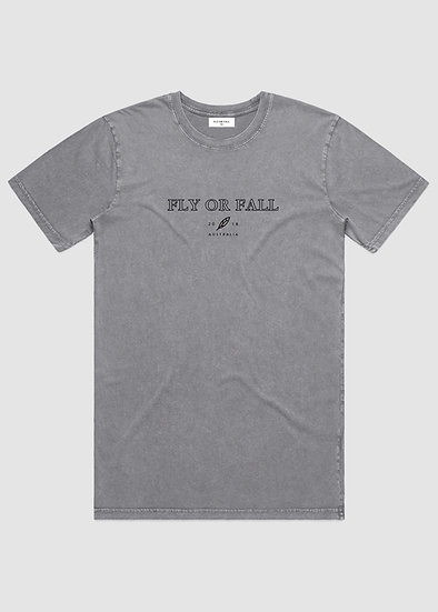 ORIGIN TEE - WASHED GREY