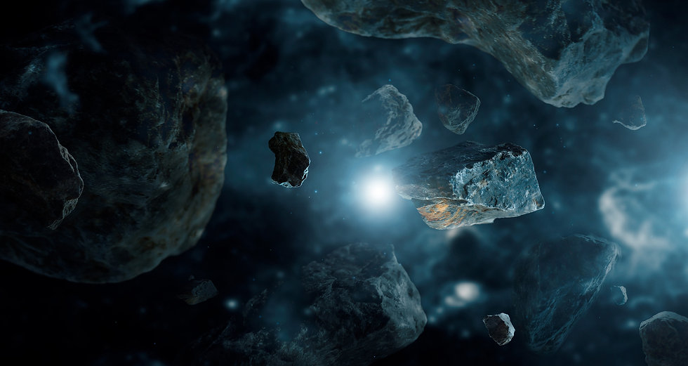 Meteorites in deep space planets. Astero