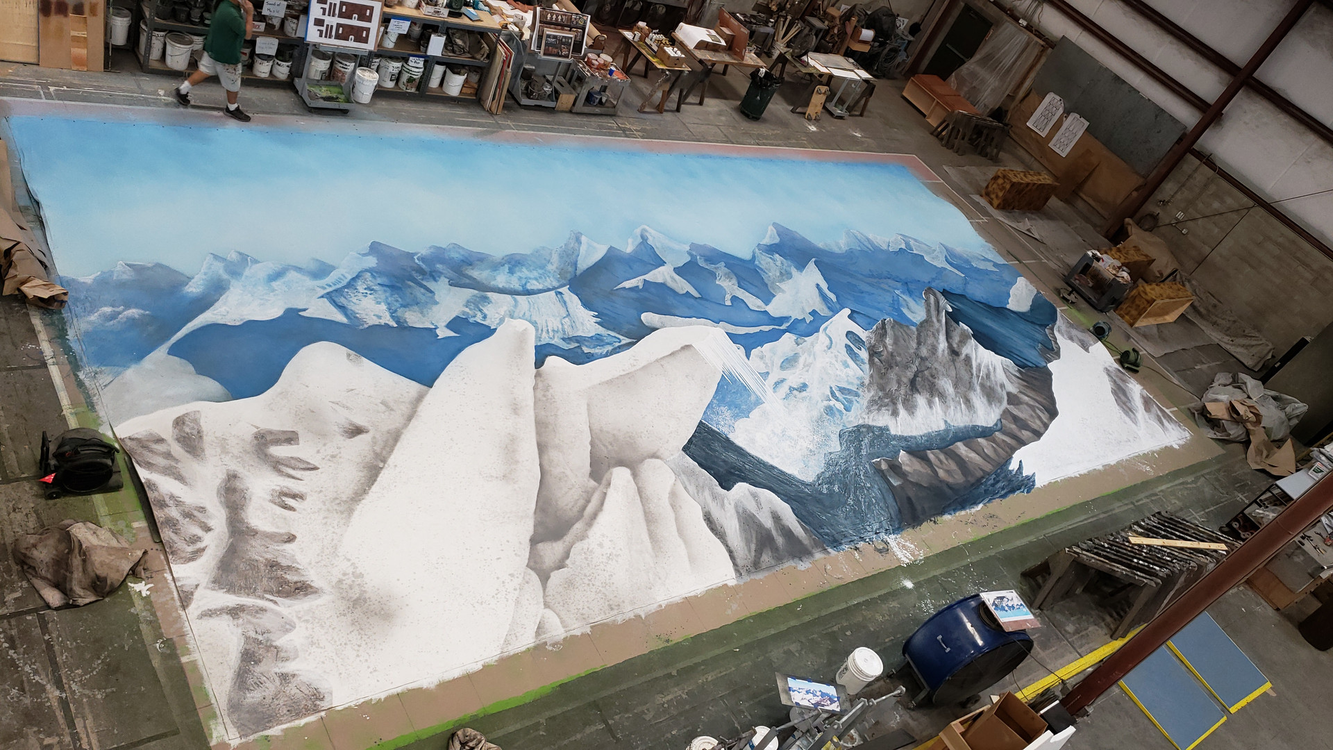 Mountain Backdrop 52'x24'