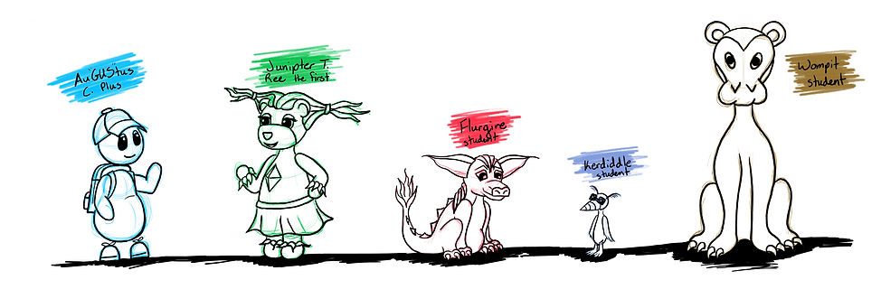 Blobbity Prep Chracter DesignLine:Sketch