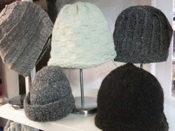 Hand Knitted Natural Hats