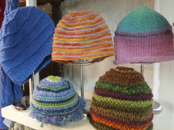 Hand Knitted Coloured Hats