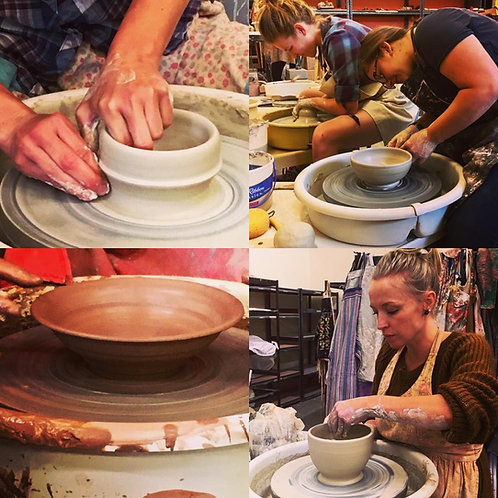 Beginning Pottery Intensive - Thursdays 6-9pm: Jan 7-Feb 4