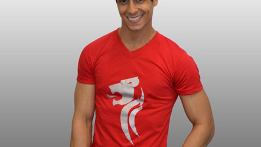 Red Silver Lion T-Shirt