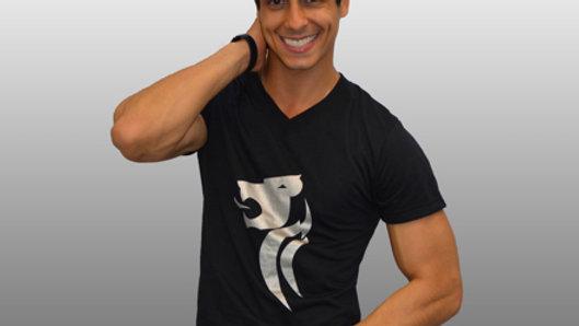 Black Silver Lion T-Shirt