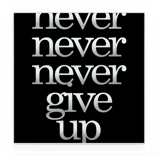 never give up (solid)