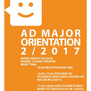 Advertising Major Orientation 2/2017