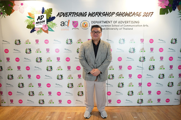 (A. Wuthichai Choonhasakulchoke, Dean of Communication Arts - Assumption University, the brand supporter from Albert Laurence School of Communication Arts - Assumption University)