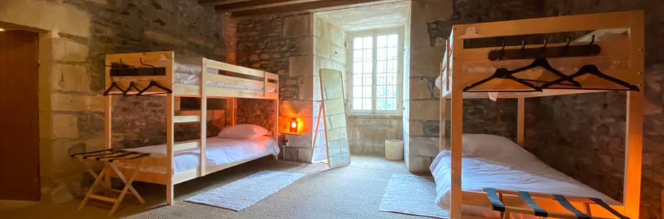 Chambrée 10 single beds