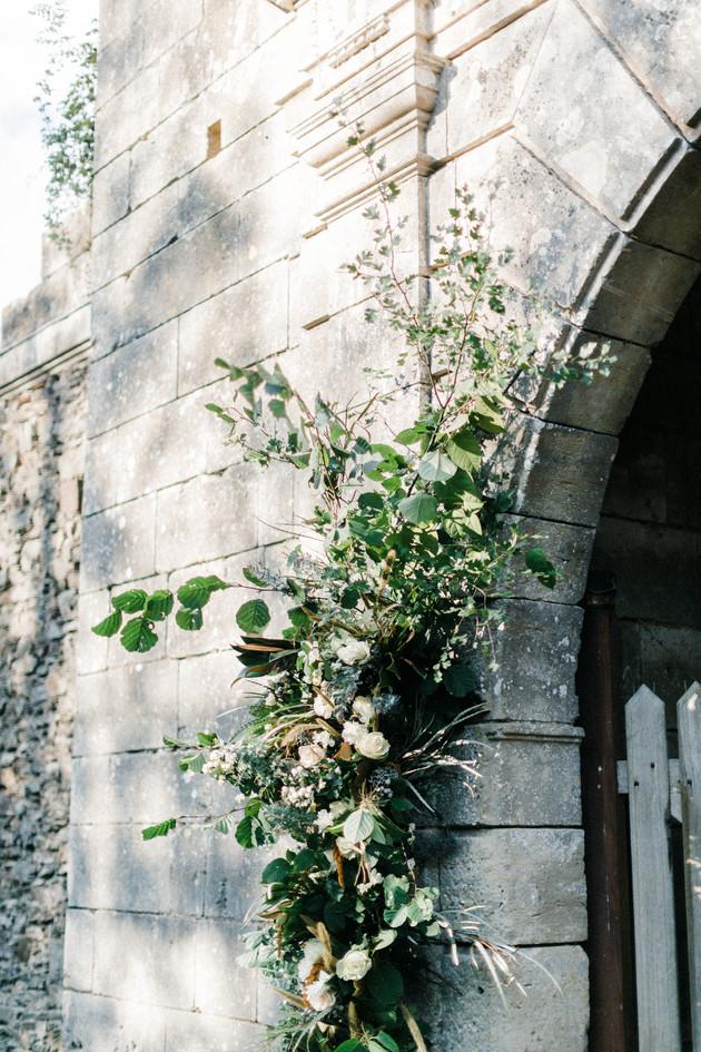 Décoration florale pont levis