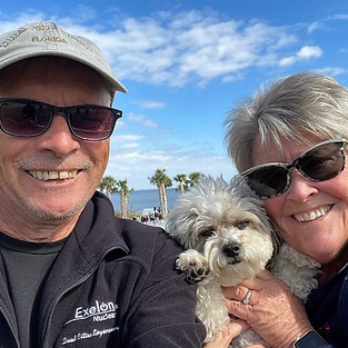 Mike, Janice and Lucy Stephenson are loving retirement in Town Shores.
