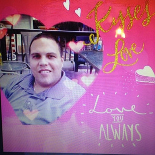 Our Valentine Boy, Alex Jr. His heavenly 40th Birthday is on Valentines Day.  Alex and Marie Marshall