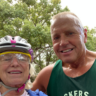 Mary Garlick and Roger Roll  Living in Town Shores enables us to be physically active. We love living in paradise!