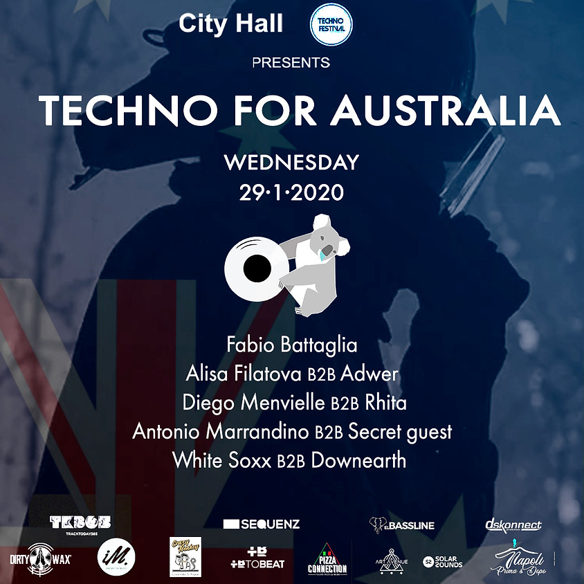 City Hall y Techno Festival pres. Techno For Australia