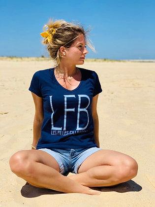 "T-shirt ""LFB"" marine et ciel"