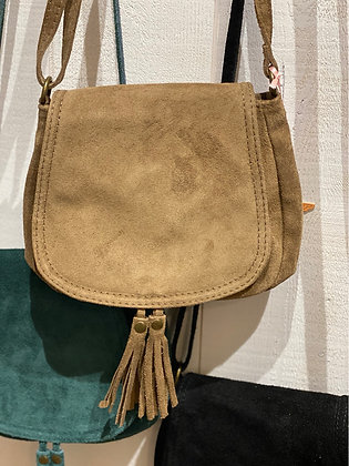 Petit sac cuir camel
