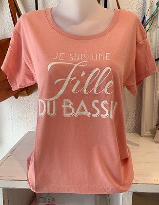 T-shirt rose poudré