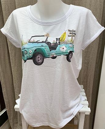 "T-shirt blanc ""Méhari"""