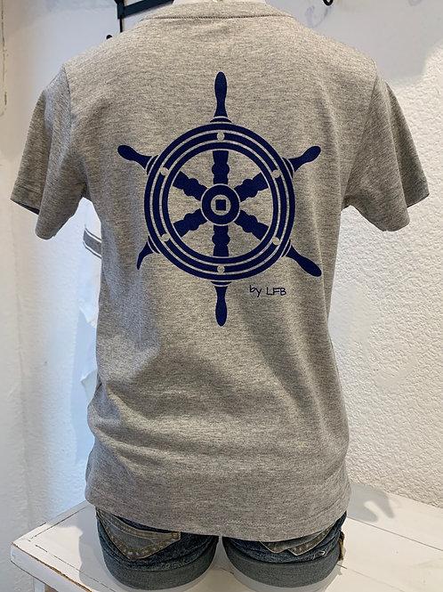 Tee-shirt Gars Gris chiné