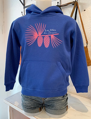 Sweat fille enfant bleu