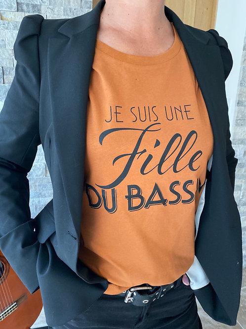 T-shirt Coton Bio Cuivre/Noir