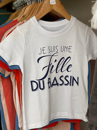 Tee-shirt fillette blanc