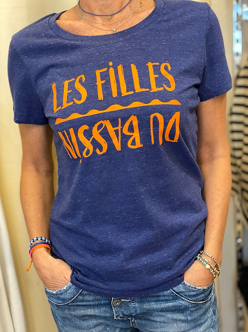 T-shirt inversé royal blue
