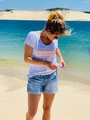 T-shirt  «Arcachonnaise» orange