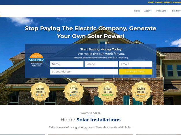 Solar Energy Web Design