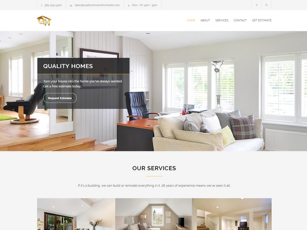 Homes Renovation Web Design