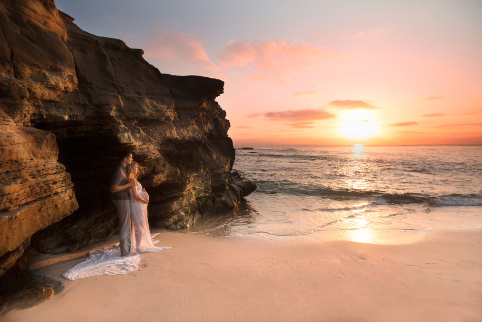 Beach Side San Diego Maternity Photography