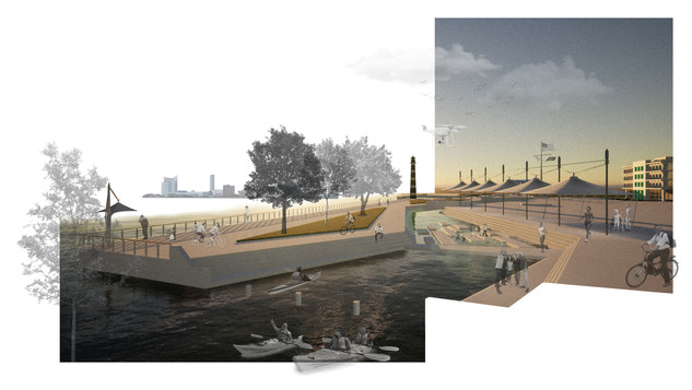 The New Detroit Riverwalk and Lighthouse Park