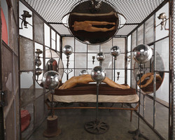 Louise-Bourgeois-IN-AND-OUT_-1995-_detail_-Cell--2057-x-2108-x-2108-cm-Plastic--195-x-170-x-290-cm-C