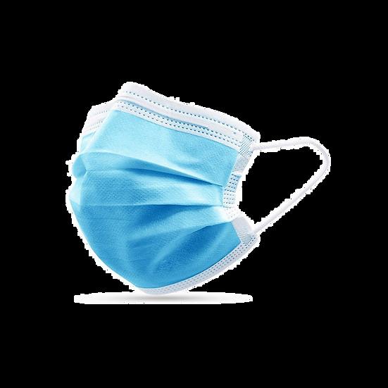 Медицинская маска трехслойная голубая